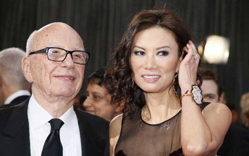梅鐸與前妻鄧文迪。(新華網)