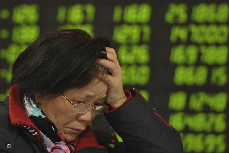 中國股市。(美聯社)
