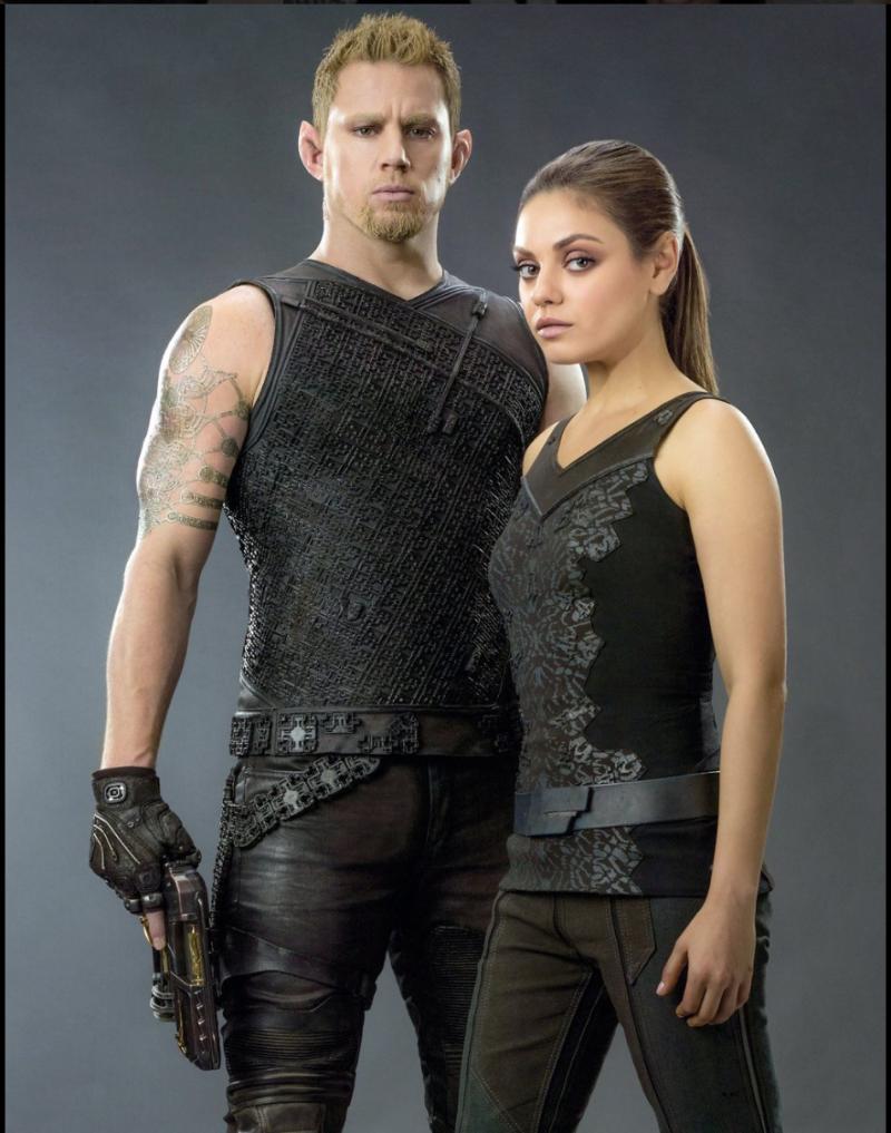 靠《朱比特崛起》拿到最爛男女主角的查寧坦圖(Channing Tatum)和蜜拉庫妮絲(Mila Kunis)。(取自網路)