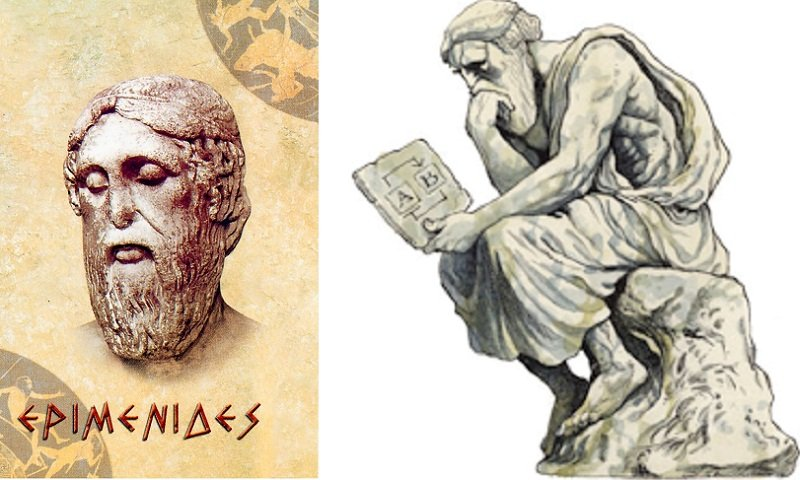 古希臘克里索斯的哲學家埃庇米尼得斯的矛盾論是沈思者原型。(作者提供)