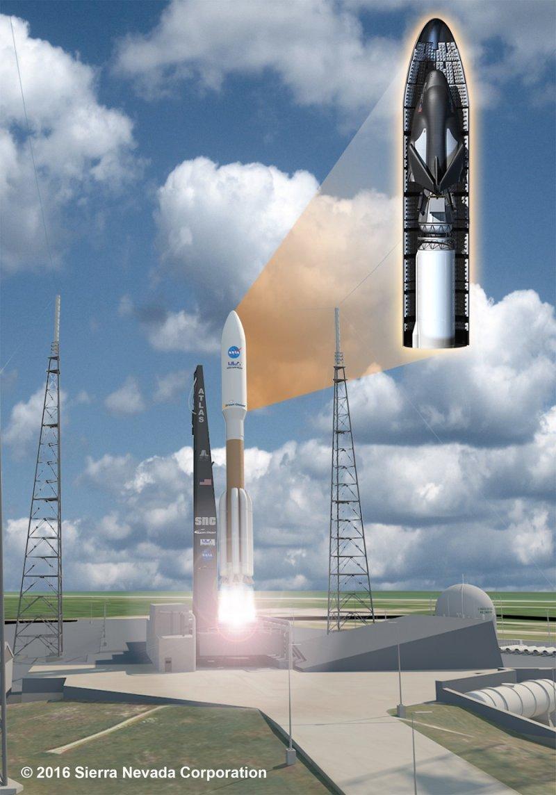 由「擎天神5型」(Atlas V)火箭推送入太空(SNC)