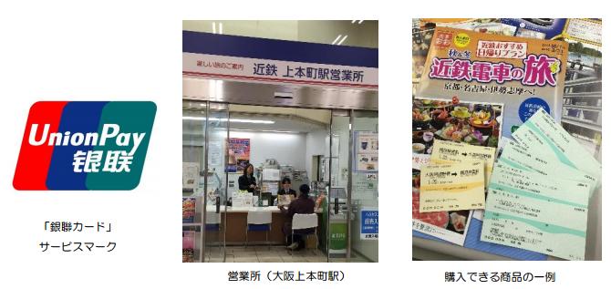 未來民眾可用中國銀聯卡購買車票等旅遊用品。(翻攝近畿日本鐵道官網)