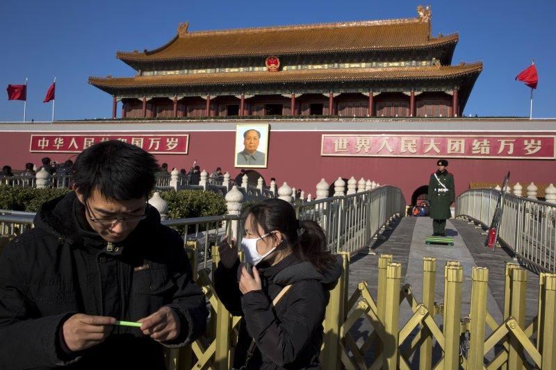 中國,北京,天安門廣場。(美聯社)