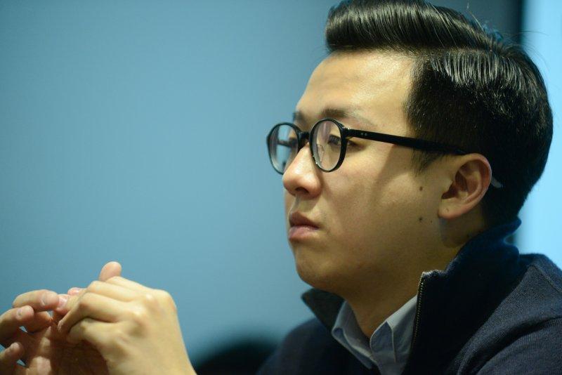 國民黨青年組成「草協聯盟」力促黨內改革,前青年團執行長李正皓希望黨要擺脫過去遊覽車和餐盒的動員方式。(林俊耀攝)