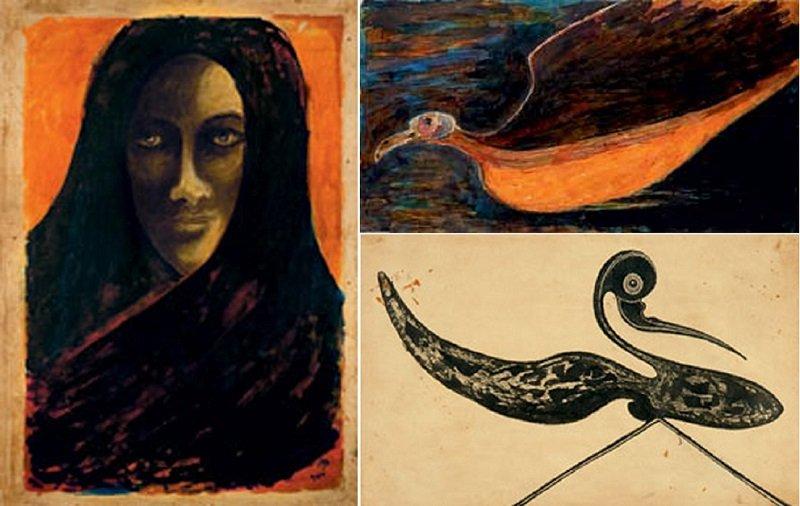 加拿大麥米高美術館收藏的泰戈爾畫作。