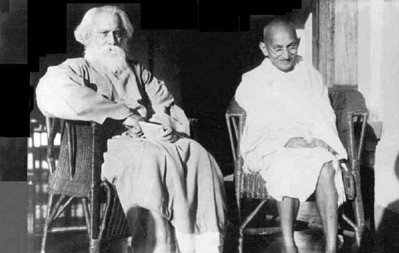 泰戈爾和甘地,政見不同可以為好友。