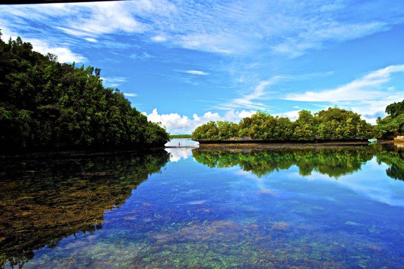 帛琉地處環礁地形,水清無波,非常適合浮潛。(圖/邱宏照臉書)