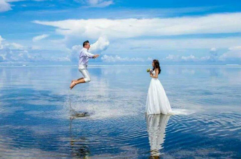 帛琉處處都是如畫美景,近年也成為自助婚紗勝地。(圖/邱宏照提供)