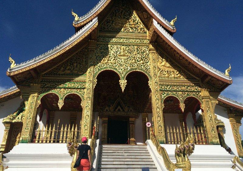 保存良好的龍坡邦寺廟。(美聯社)