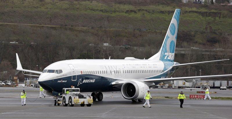 波音737MAX的體積較一般客機大。(美聯社)