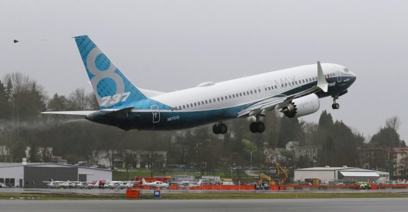 波音737MAX新型客機29日首航成功。(美聯社)