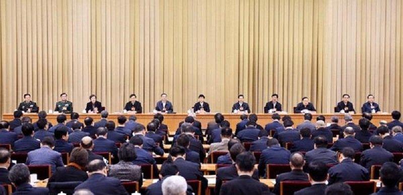 1月22日,中央政法工作会議在北京召開。(新華網)