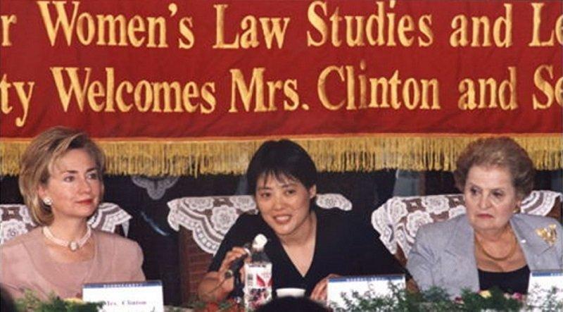 1998年,當時的美國第一夫人希拉蕊與美國前國務卿萊特曾親訪眾澤。(來源:千千律師事務所官網)
