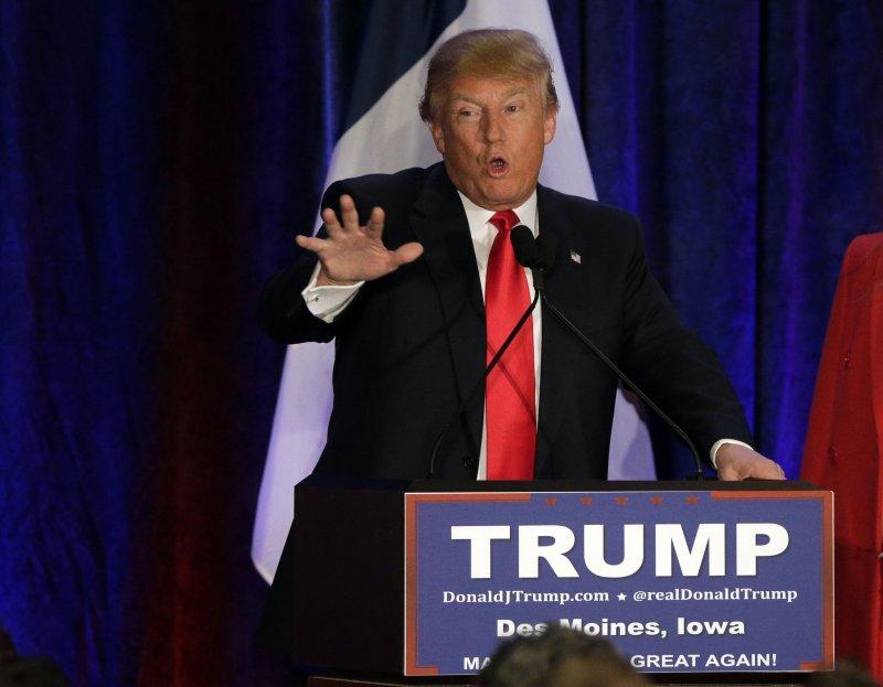 川普在愛州初選中爆冷落居第二名。(美聯社)
