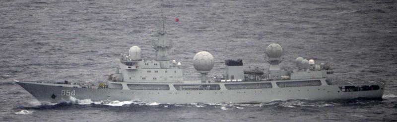 天狼星號電子偵察船。(日本統合幕僚監部)