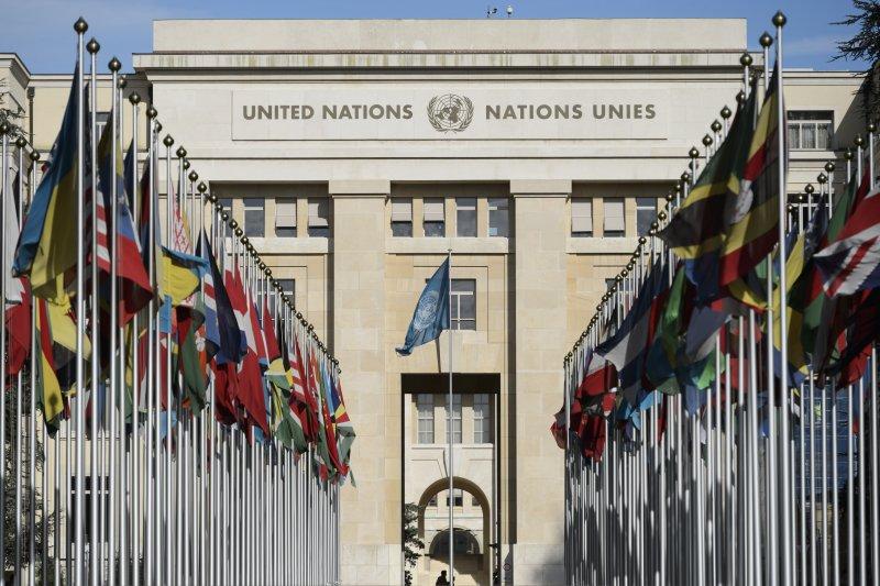 和平會談在聯合國歐洲總部萬國宮登場(美聯社)