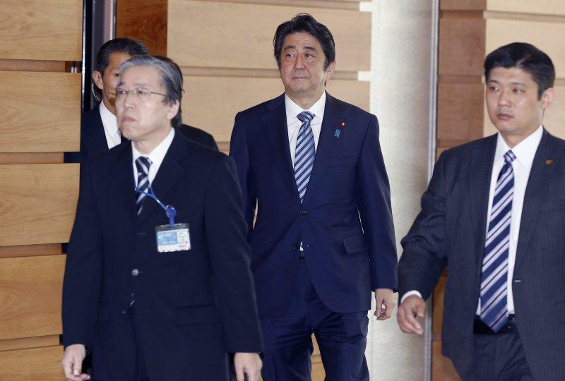 北韓7日早晨發射長程(洲際)彈道飛彈,日本首相安倍晉三召集閣員緊急會商(美聯社)