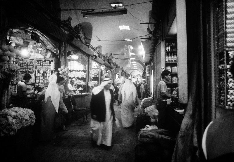 1987年阿勒波市場的貿易情景(美聯社)