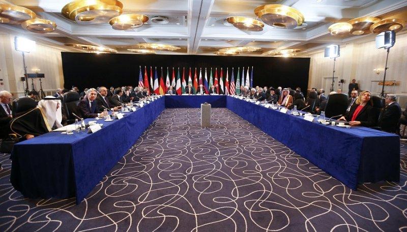 美國、俄國及各方代表參與慕尼黑會談(美聯社)