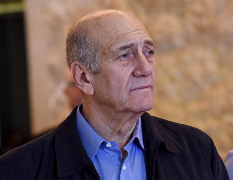 以色列前總理歐默特(Ehud Olmert)(美聯社)