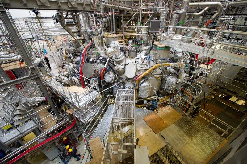 德國新式核融合發電廠的內觀。(美聯社)