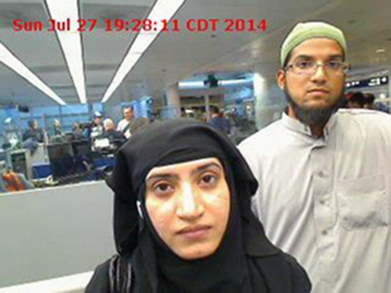 加州聖伯納迪諾攻擊案夫妻檔恐怖分子法魯克與馬立克(美聯社)