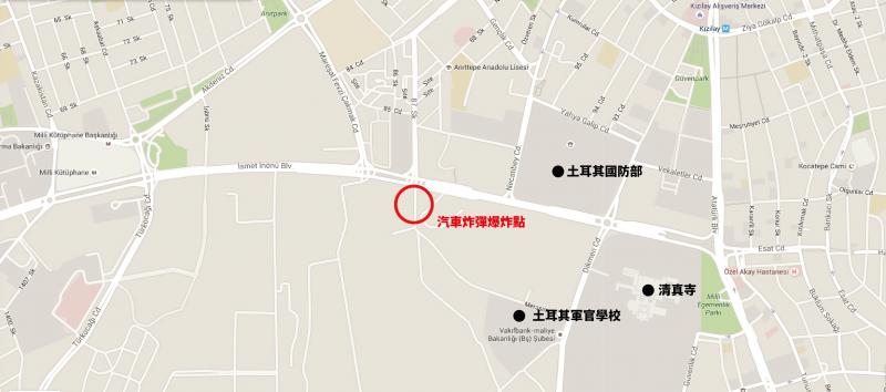 安卡拉爆炸案地圖