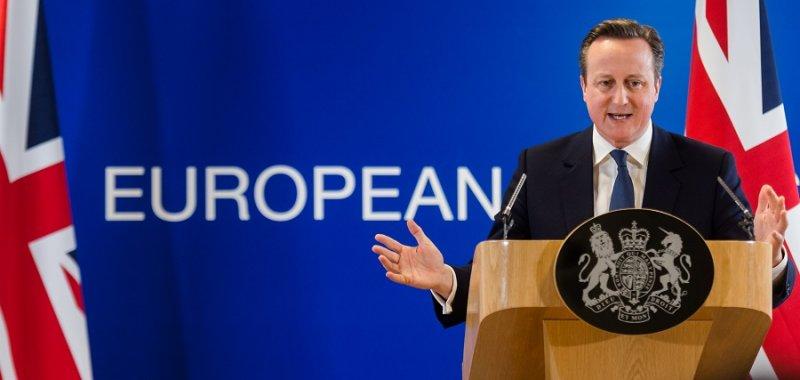 英國首相卡麥隆19日於布魯塞爾記者會上(美聯社)