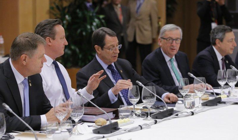 英國首相卡麥隆19日於布魯塞爾參加會議(美聯社)