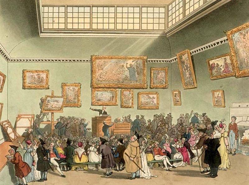 十八世紀的法國,拍賣會上絡繹不絕,早已成為當時的藝術中心。(圖/Wikimedia Commons)