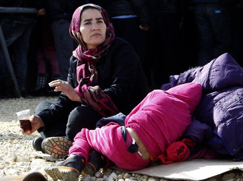 馬其頓邊界的難民(美聯社)