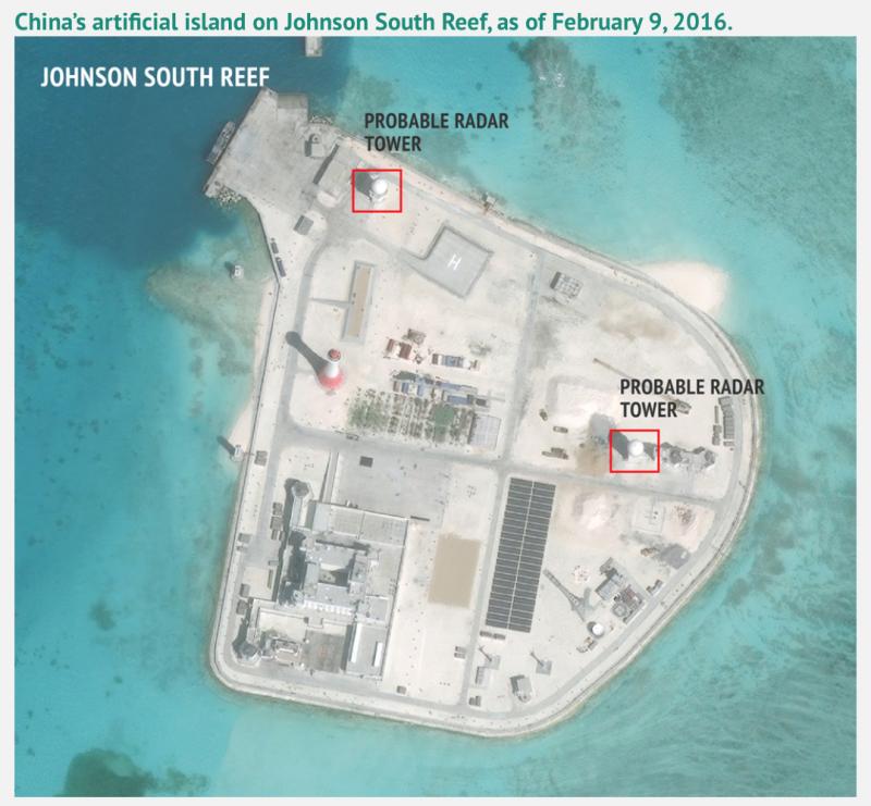 赤瓜礁衛星空拍照。
