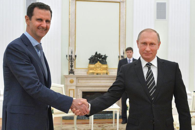 普京和阿塞德曾在2015年會面(美聯社)