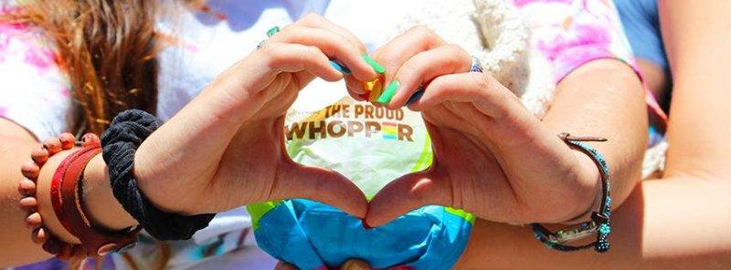 漢堡王曾推出「驕傲華堡」,傳達人人平等的理念。( 圖/Burgerking@fb )