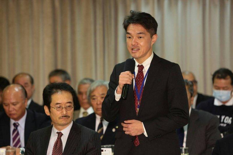 日本交流協會總務部長濱田了隆。(顏麟宇攝)