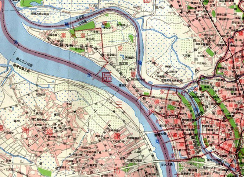台北市行政區域圖-士林區(1991)。