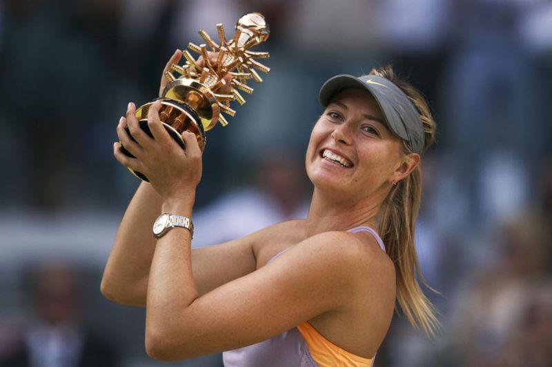 莎拉波娃世界排名第六,儘管2005年曾因傷跌出百強,但隨後強勢爬升,共拿下5座網球女單大滿貫冠軍頭銜。(美聯社)