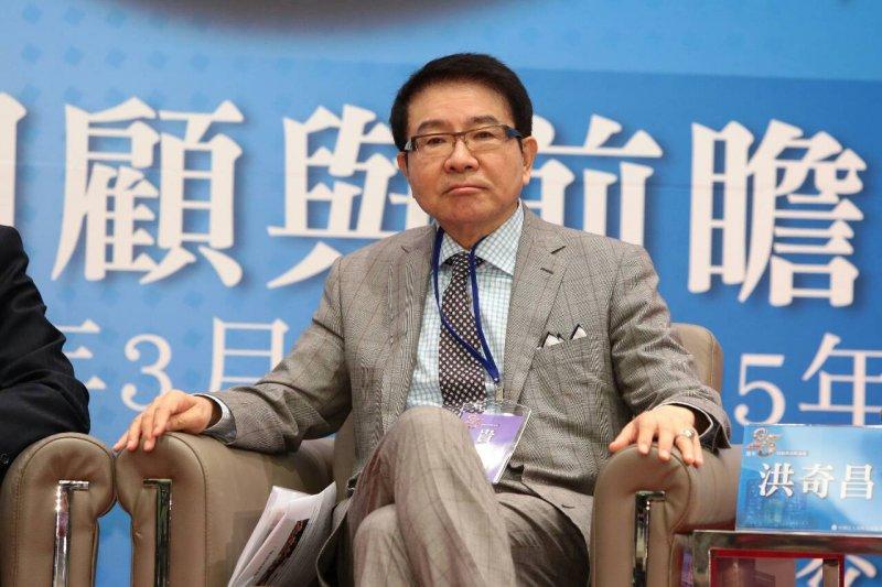 海基會揭牌運作25周年活動,洪奇昌。(顏麟宇攝)
