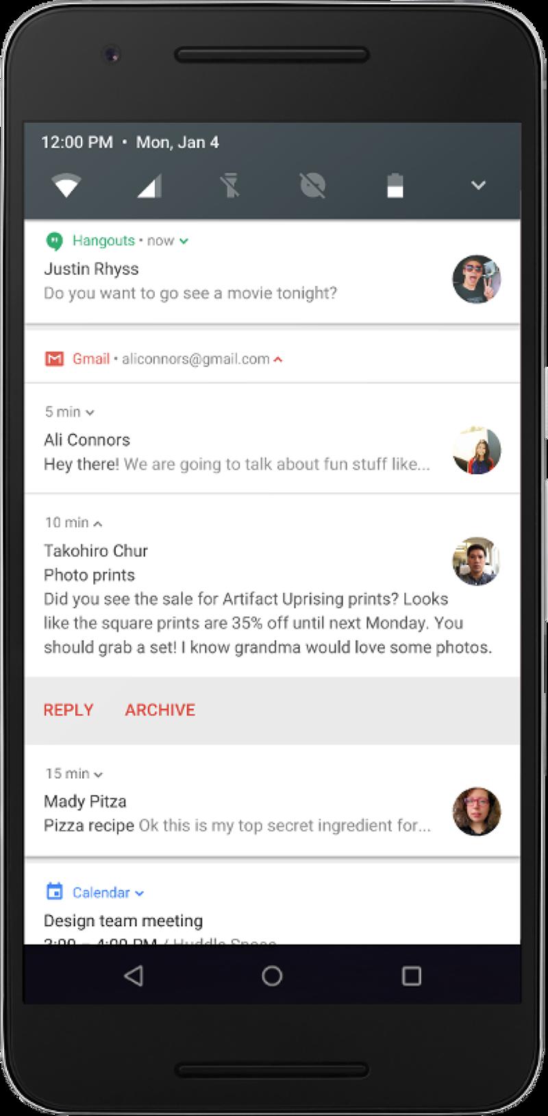 Android N新功能(取自Google官網)
