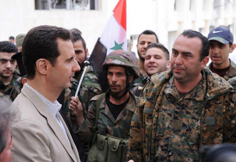 敘利亞總統阿塞德(左)(美聯社)