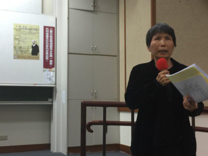 林孝信妻子陳美霞教授表示,老林要留給社會兩件事,第一是社會改造;第二是論述。(吳友友攝)