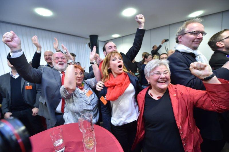 德國社民黨(SPD)的支持者(美聯社)