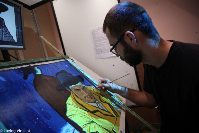 電影中的每個畫面,全都是畫家們一筆筆手繪出的油畫畫作。