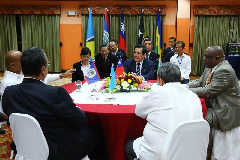 總統馬英九與四國總理共聚一堂研商國事。(取自馬英九臉書)