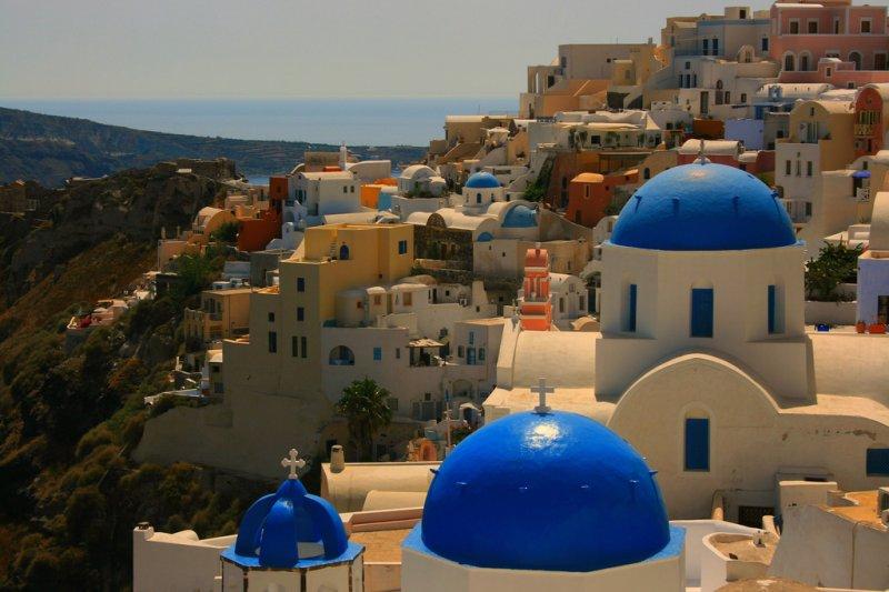 聖托里尼島的伊亞小鎮是非常小的島嶼,卻是希臘最有名的小島。圖/Navin75@flickr