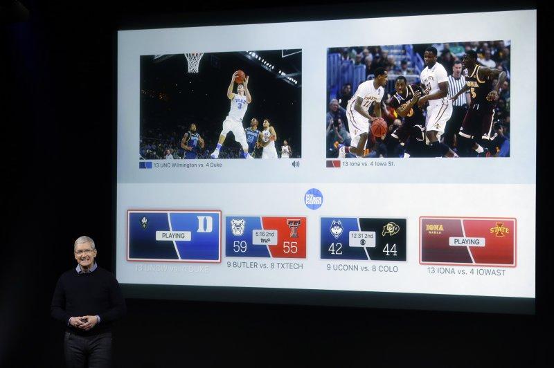 蘋果發表會,Apple TV。(美聯社)