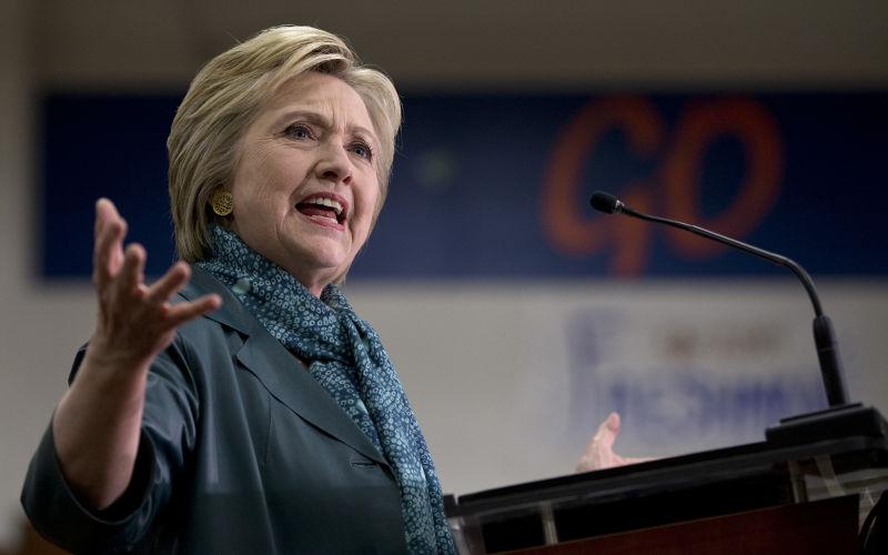 希拉蕊(Hillary Clinton)(美聯社)