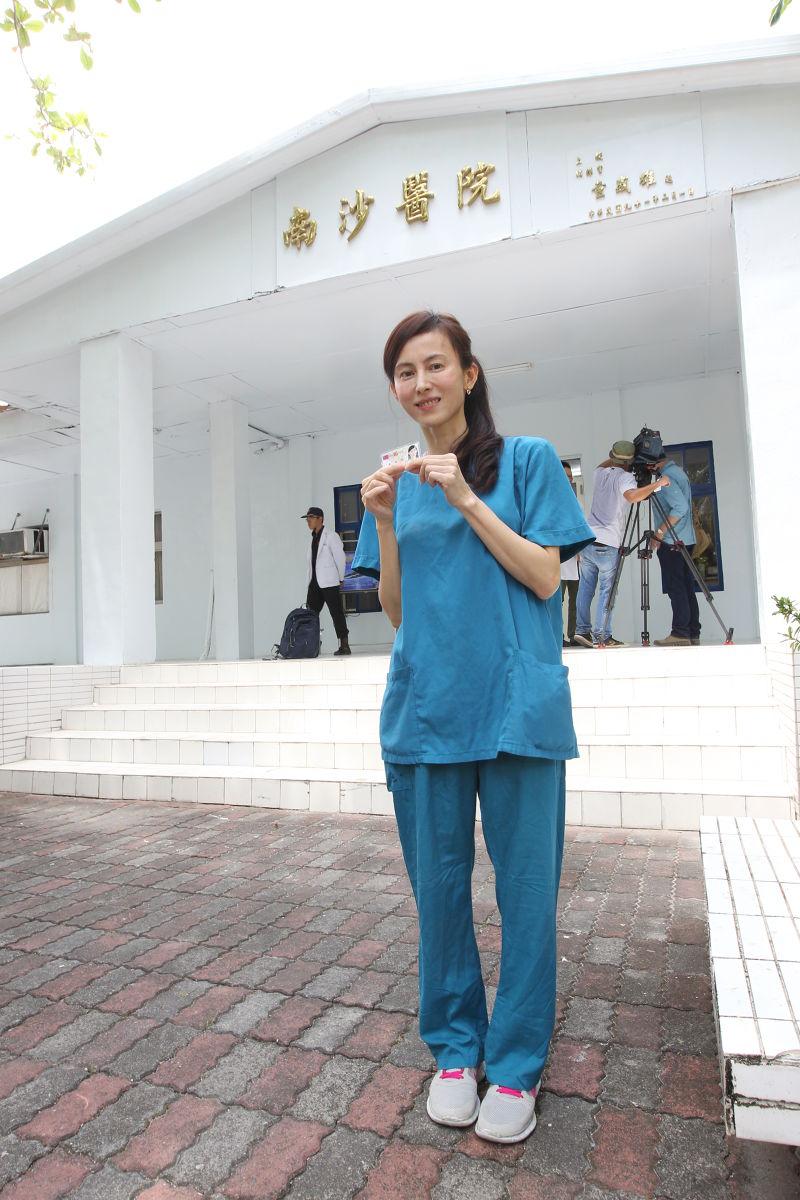 設籍太平島的護理師潘曼琪(總統府記者聯誼會提供)