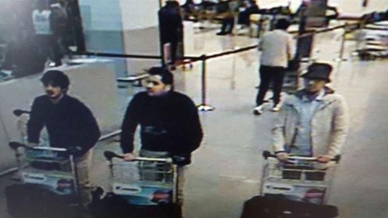 布魯塞爾機場爆炸案3名嫌犯(美聯社)