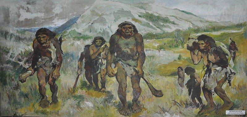 原始人的生活(圖/wikipedia)